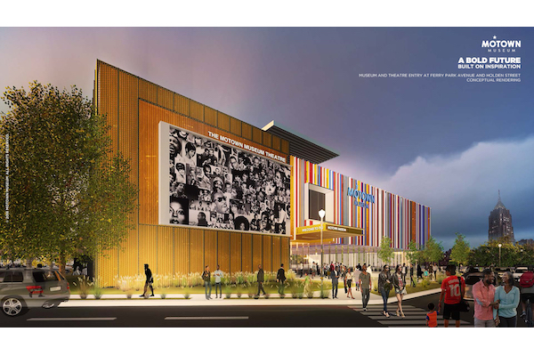 Artistic rendering of the expanded Motown Museum